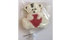 Имбирный пряник мишка с сердцем