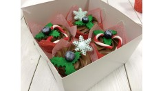 Капкейки Новогодние Шоколадные